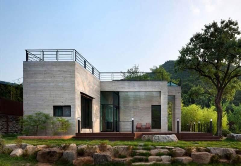 casa modular de hormigón