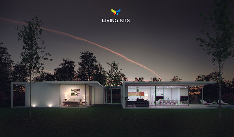 casas modulares de living kits
