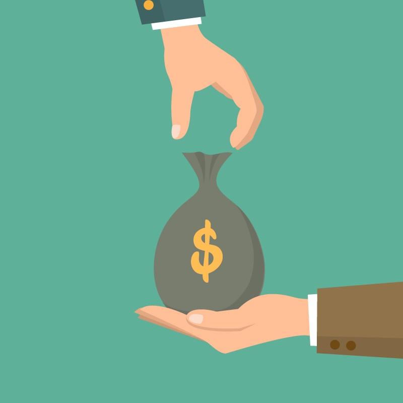 ilustración de una bolsa con dinero