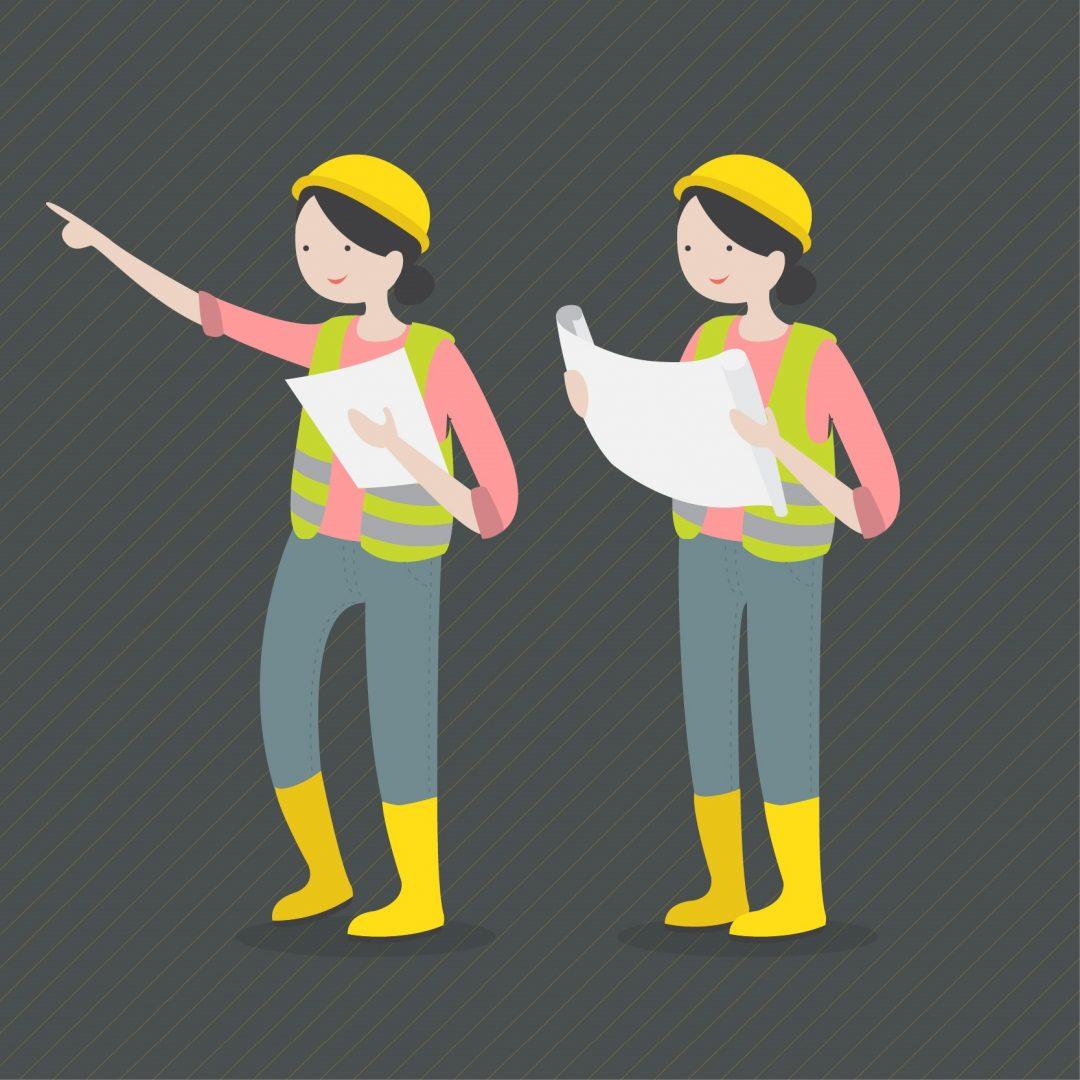diseño de dos mujeres arquitecto