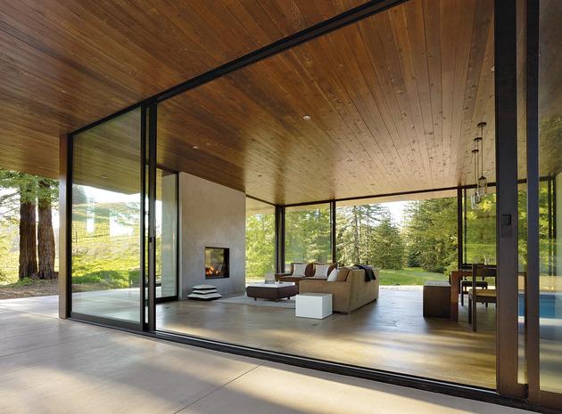 porche casas modernas prolonga jardín