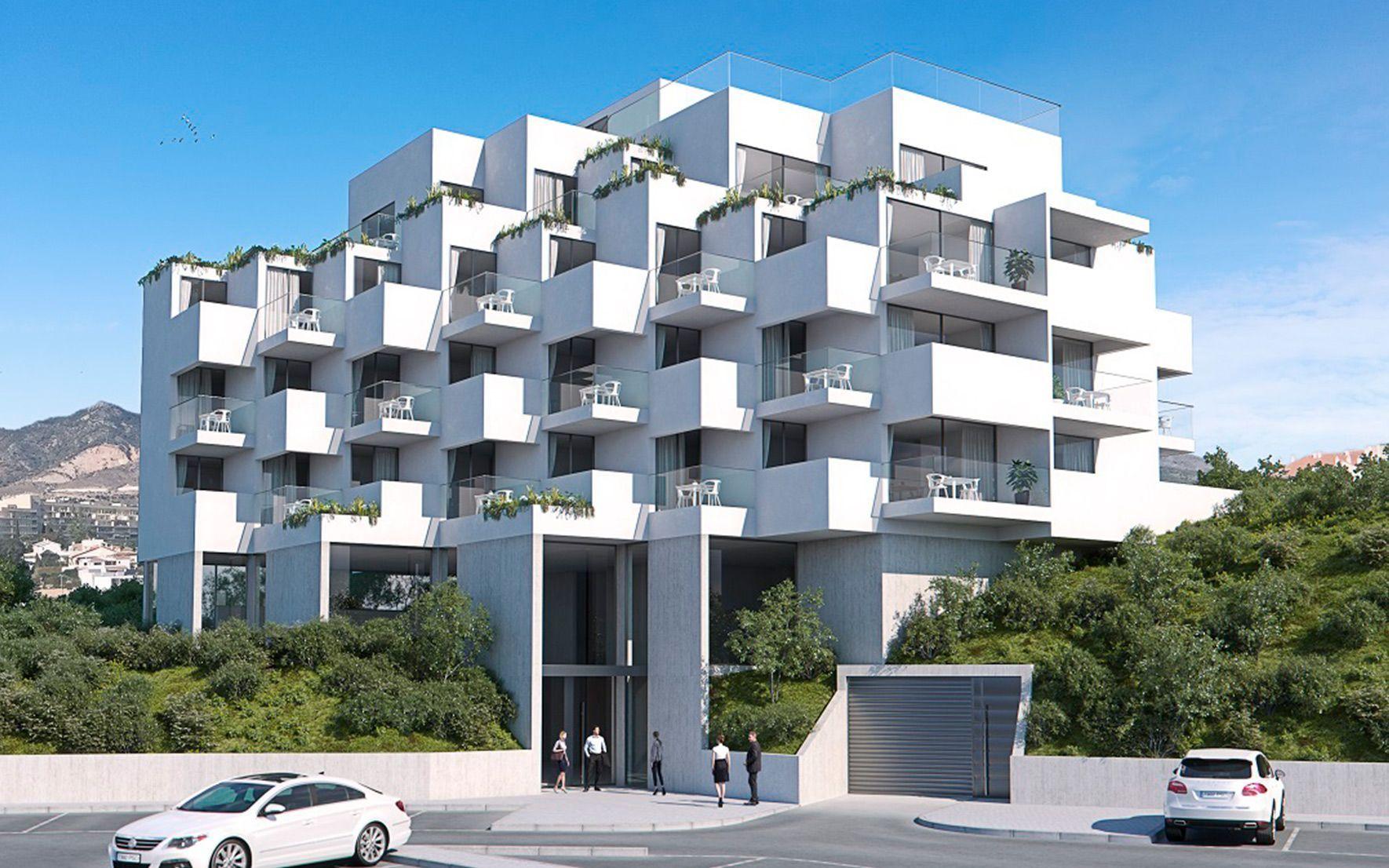 Exterior Apartamento turísticos con arquitectura moderna en Benalmádena