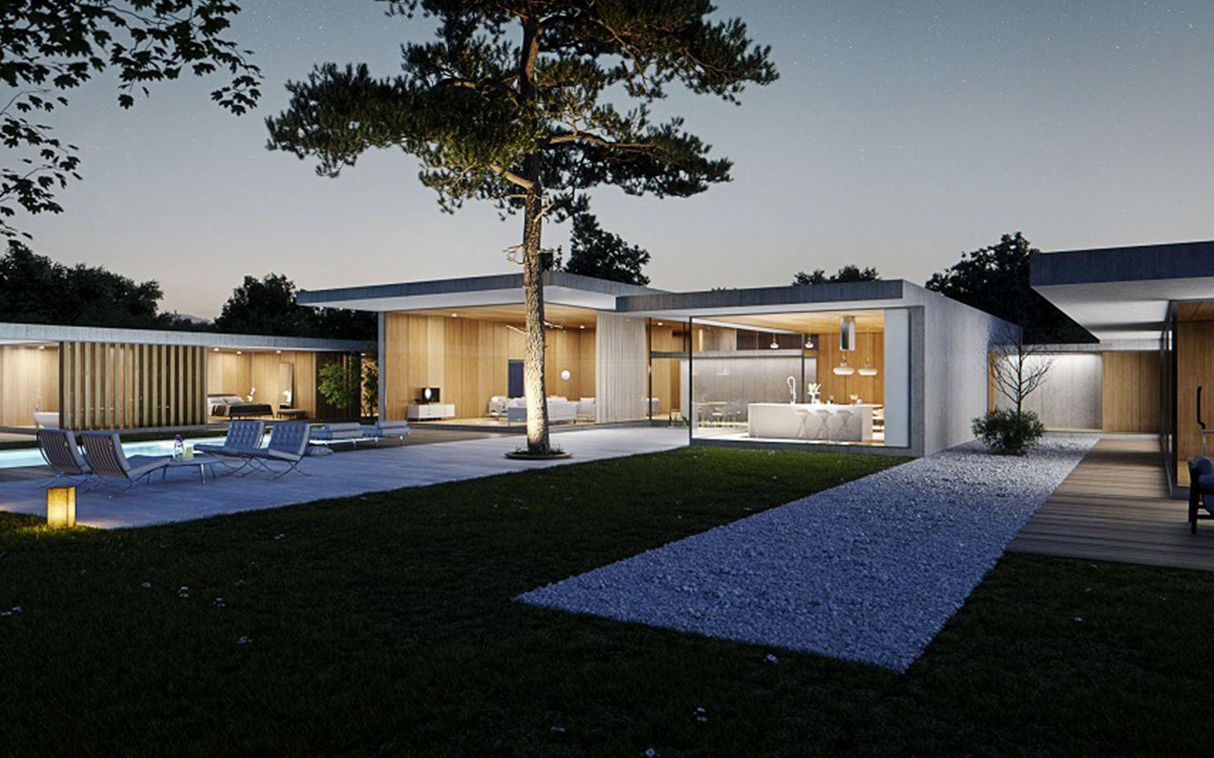 Casa Paisaje Exterior Casa moderna en San Roque