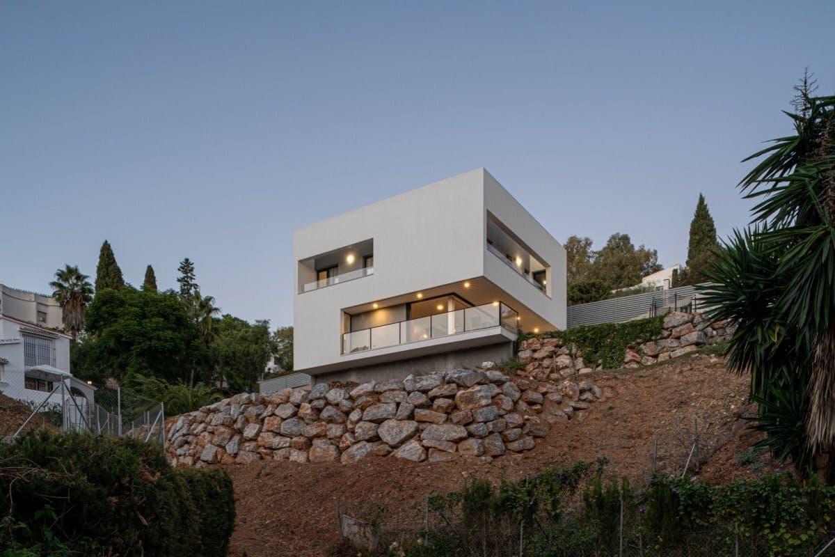 Exterior Casa Moderna Cubo en Mijas